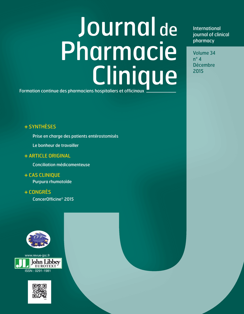 Journal de Pharmacie Clinique