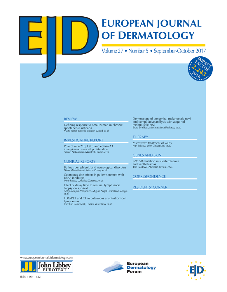 European Journal of Dermatology