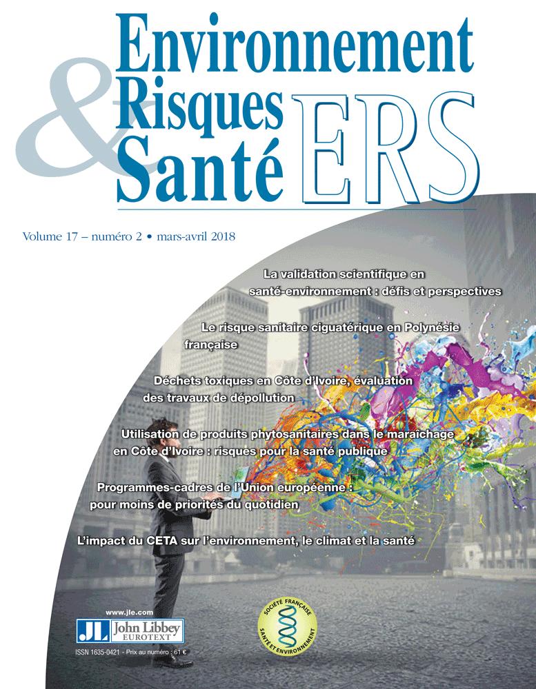 Environnement Risques & Santé Vol.17, N°2 (01/03/2018)