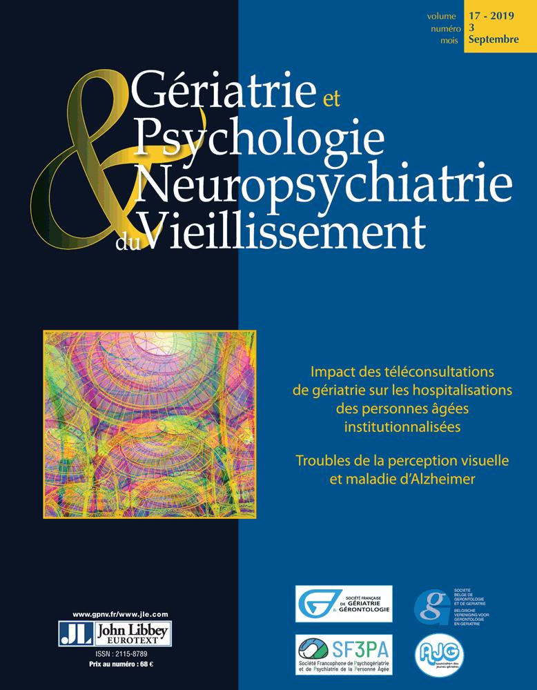 Gériatrie et Psychologie Neuropsychiatrie du  Vieillissement