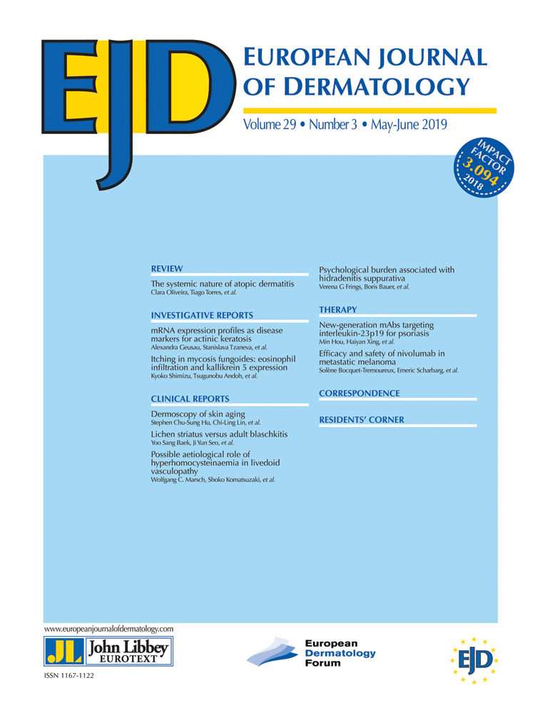 John Libbey Eurotext - European Journal of Dermatology - Home